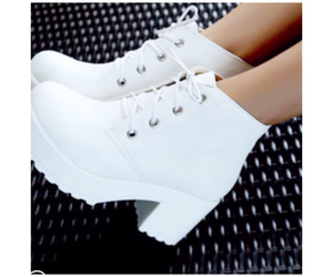 shoes, white, and white platforms image
