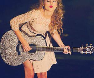 Taylor Swift, guitar, and kiss image