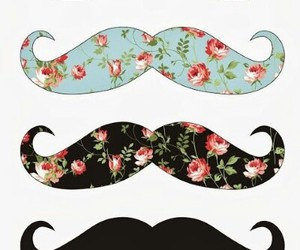 mustache and vintage image