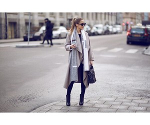 bag, coat, and coffe image