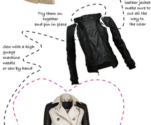 coat, diy, and trench image