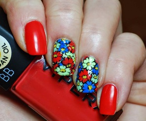 colour, nail art, and nails image