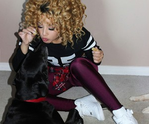 curly hair, dog, and jadahdoll image