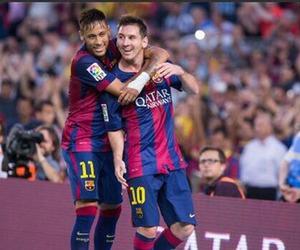 messi, neymar, and Barca image