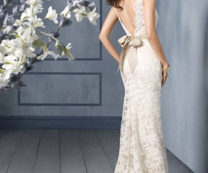 backless, bow, and lace image