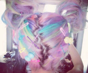 hair, pastel, and cute image