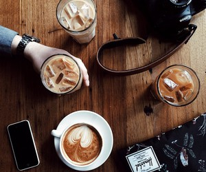 coffee, camera, and drink image
