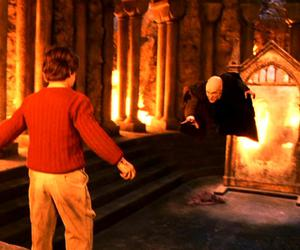 harry potter, voldemort, and philosopher's stone image
