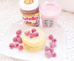 nutella, pastel, and starbucks image