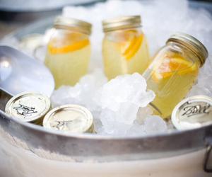 lemonade, drink, and ice image