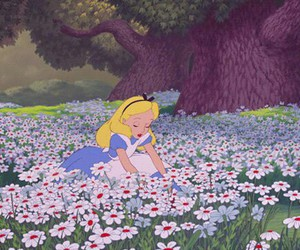 alice, disney, and wonderland image