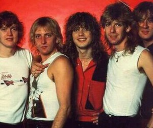 def leppard, rick allen, and phil collen image