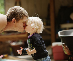 cute, kiss, and kids image