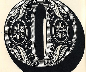 o, text, and vintage image