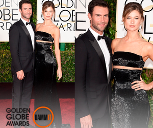 golden globes, behati pinsloo, and adam levine image