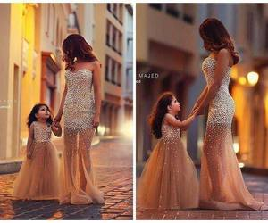 dress, baby, and mom image