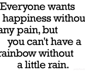 happiness, rain, and rainbow image