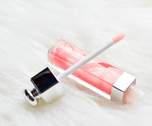 dior, pink, and lipgloss image