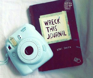 blue, camera, and wreck this journal image