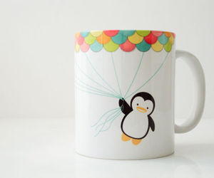 cute, penguin, and mug image
