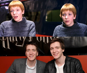 james phelps, oliver phelps, and harry potter cast image