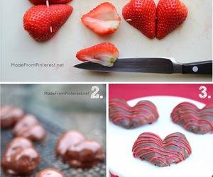strawberry, diy, and chocolate image