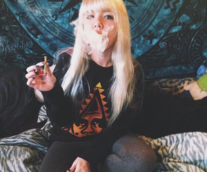 cigarettes, girl, and grunge image