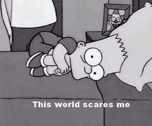 world, simpsons, and scare image