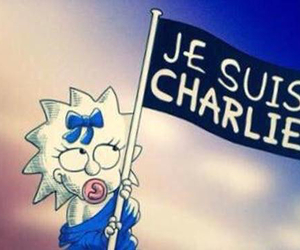 je suis charlie, the simpsons, and Maggie image