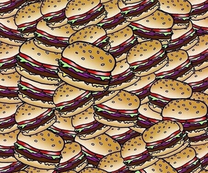 food, burger, and wallpaper image