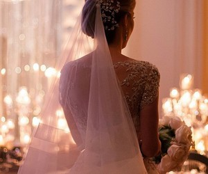 wedding, bride, and girl image