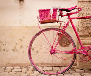 pink, bike, and vintage image