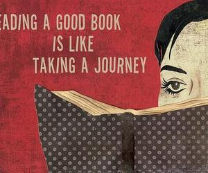book, reading, and journey image
