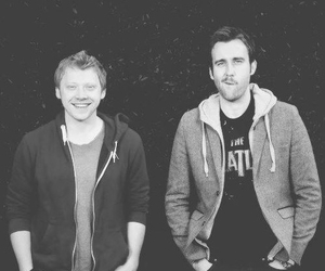 harry potter, rupert grint, and Matthew Lewis image