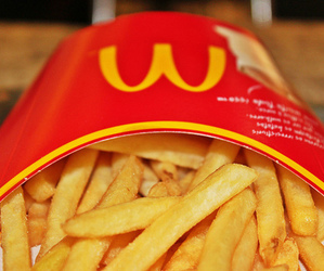 food, McDonalds, and French Fries image