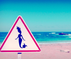 mermaid, beach, and summer image