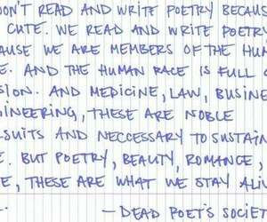 poetry, dead poets society, and quote image