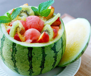 fruit, white, and melon image
