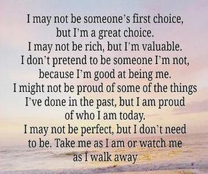 being me, first choice, and i am proud image