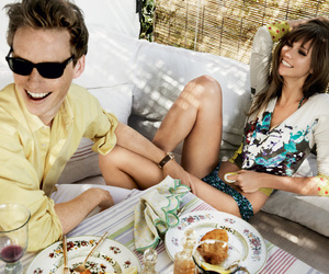 Karlie Kloss, eddie redmayne, and vogue image