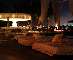luxury, bed, and night image