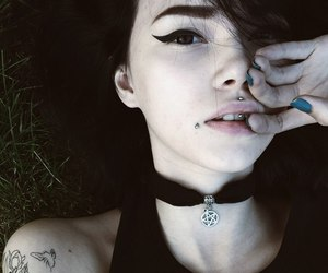 girl, grunge, and piercing image