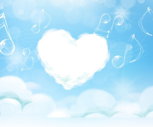 heart, music, and note image