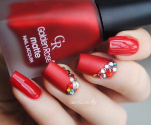 black, red, and manicure image