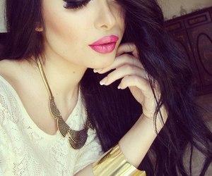 girl, make up, and beauty image
