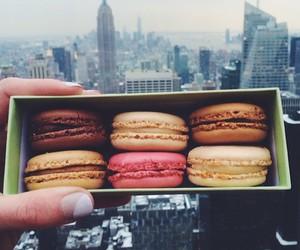 food, macarons, and sweet image