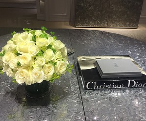 rose and Christian Dior image