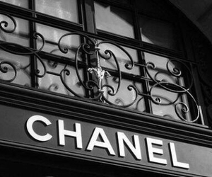chanel, black and white, and black image