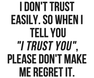 trust, love, and regret image