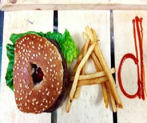 burger, dad, and food image